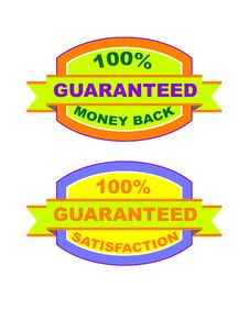 Free Guaranteed Labels (vector) Stock Photo - 10000250