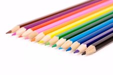 Free Color Pencils Royalty Free Stock Image - 10000416