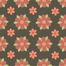 Free Seamless Flowers Royalty Free Stock Image - 10001886