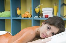 Free Woman In A Spa Getting A Massage Royalty Free Stock Images - 10003079