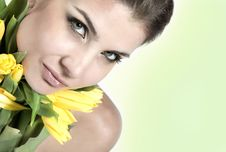 Free Close-up Fresh Portait With Tulips Stock Photo - 10003110