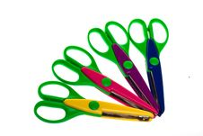 Free Colorful Plastic Scissors Stock Photos - 10003223