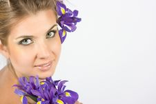 Free Close-up Fresh Portait With Iris Flowers Stock Image - 10003231