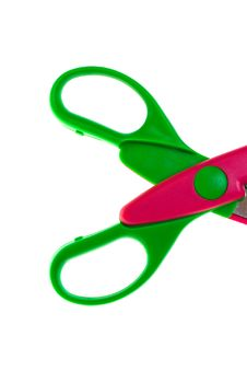 Free Colorful Plastic Scissor Stock Photography - 10003232