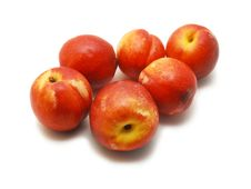 Free Nectarines Isolated Royalty Free Stock Photography - 10003287