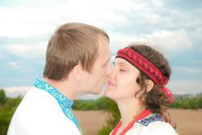Free Kissing Her Stock Photography - 10004982