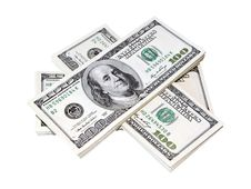 Free Stack Of US Dollars Royalty Free Stock Images - 10005329