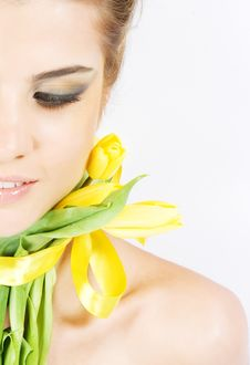 Free Close-up Fresh Portait With Tulips Royalty Free Stock Photo - 10005535