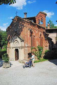 Free Medieval Village: Grazzano Visconti - Church Stock Photography - 10006052