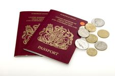 Free Passports And Coins. Stock Photography - 10006122