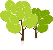 Free Vector Trees Royalty Free Stock Photos - 10006188