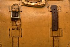 Free Close Up Of Old Leather Bag Royalty Free Stock Image - 10006256