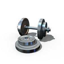 Isolated Dumbbell Stock Image
