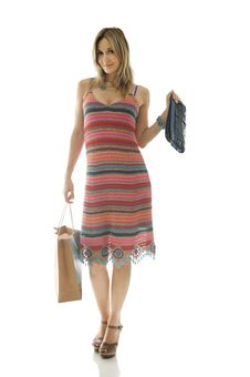 Free Happy Cute Young Woman Shopping Royalty Free Stock Photo - 10006795