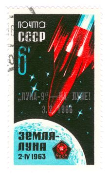 Vintage Stamp About Space Stock Image
