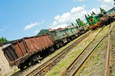 Unserviceable Trains Royalty Free Stock Images