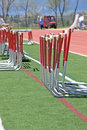 Free Hurdles Alongside The Track Stock Image - 10010091