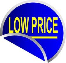 Free Blue Button Low Price Royalty Free Stock Photos - 10010038