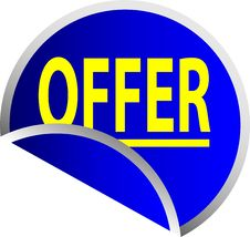 Free Blue Button Offer Stock Photos - 10010043