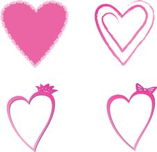 Free Hearts Royalty Free Stock Photography - 10010207