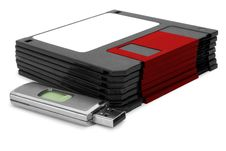 Free Diskette And Flash-card Royalty Free Stock Photo - 10010485
