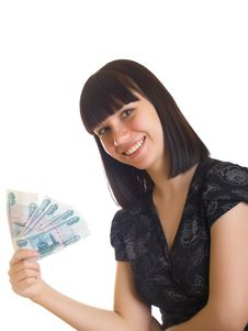 Free Woman Holding Money Royalty Free Stock Photo - 10010595