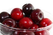 Free Sweet Cherry In A Glass Stock Images - 10010614