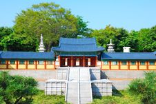Free Front View Of Temple Architecture Stock Photo - 10010680
