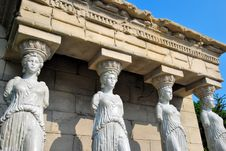 Free Female Statues Of Erechtheion Temple Stock Photography - 10010692