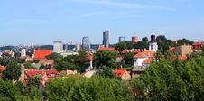 Free Panorama Of Vilnius, Lithuania Royalty Free Stock Photography - 10011117