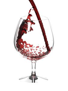 Free Red Wine In Glass Over White Royalty Free Stock Photos - 10011788