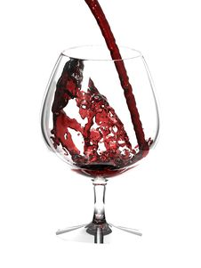 Free Red Wine In Glass Over White Stock Image - 10011801