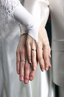 Free Hands With Rings Royalty Free Stock Photography - 10012657