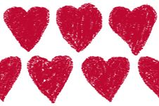 Free Red Heart Pattern Stock Photos - 10013073