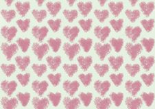 Free Pink Heart Pattern Royalty Free Stock Photography - 10013087
