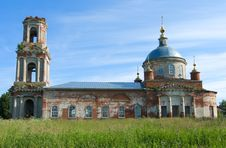 Dilapidated Church In Moscow Suburbs. Royalty Free Stock Photography