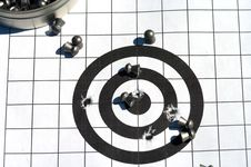 Free Target And Bullets. Royalty Free Stock Photos - 10013248