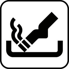 Smoking Sign 2 (+ Vector) Stock Photo