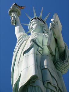 Statue Of Liberty From Below Stock Images