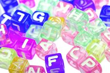 Abstract Colourful Alphabet Blocks Background Stock Photography