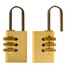 Padlock (closed & Open) Isolated On White Royalty Free Stock Photos