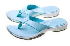 Free Blue Women Flip-flops Isolated On White Royalty Free Stock Photo - 10014605