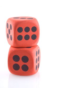 Free Red Dice. Stock Photography - 10015052