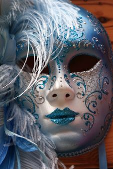 Traditional Colorful Venice Mask Royalty Free Stock Image