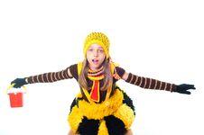 Free Girl In Bee Dress Stock Photos - 10015333