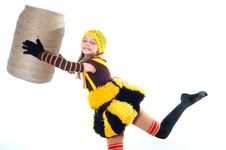 Free Girl In A Knitted Suit Royalty Free Stock Images - 10015369