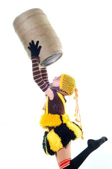 Free Girl In A Knitted Suit Stock Photography - 10015402