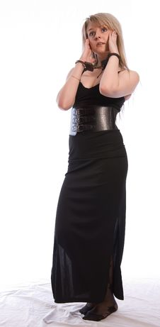 Free Hostage. Young Woman In Handcuffs. Stock Photography - 10015502