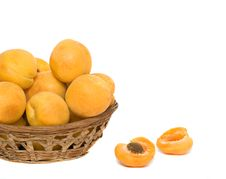 Free Basket With Pile Of Apricots Stock Photo - 10015860