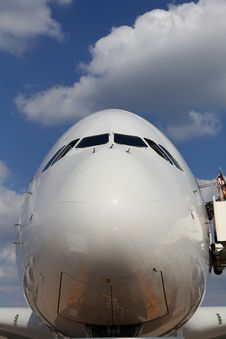 Nose Of Airliner Stock Image